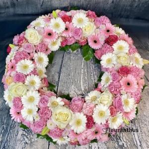 Rouwkrans Wonderfull Pink